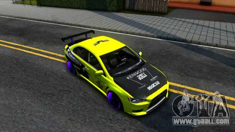 Mitsubishi Lancer Evolution X Tuning for GTA San Andreas right view