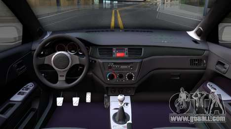 Mitsubishi Lancer Evolution IX Police for GTA San Andreas inner view