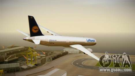 Airbus A350 Lufthansa for GTA San Andreas left view