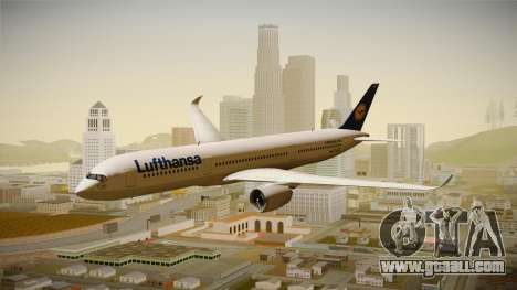Airbus A350 Lufthansa for GTA San Andreas back left view