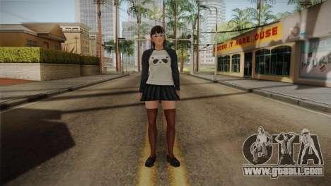 DoA 5: LR - Lei Fang Panda Shirt Long Hair for GTA San Andreas second screenshot