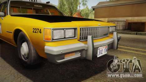 Chevrolet Caprice Taxi 1986 IVF for GTA San Andreas side view