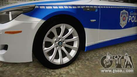 BMW M5 E60 Saobracajna Policija for GTA San Andreas back view