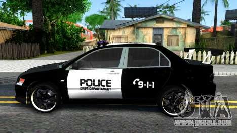 Mitsubishi Lancer Evolution IX Police for GTA San Andreas left view