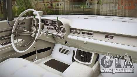 Cadillac Eldorado Brougham 1957 IVF for GTA San Andreas inner view