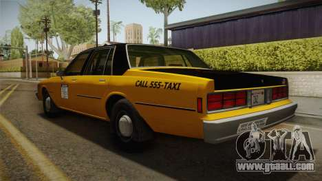 Chevrolet Caprice Taxi 1986 IVF for GTA San Andreas left view