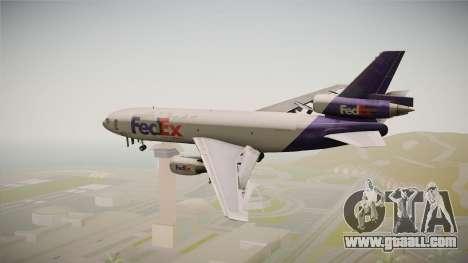 McDonell-Douglas DC-10-30F Fedex for GTA San Andreas right view