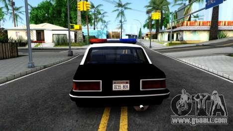 Nebula Police for GTA San Andreas back left view