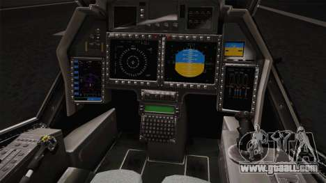 RAH-66 Comanche Retracted for GTA San Andreas inner view