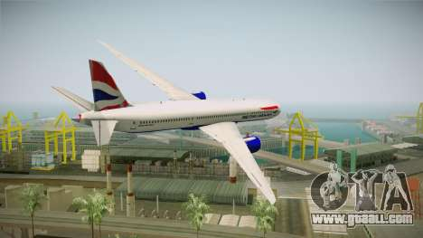 Boeing 787 British Airways for GTA San Andreas left view