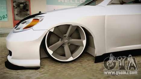 Honda Civic İ-Vtec for GTA San Andreas back view