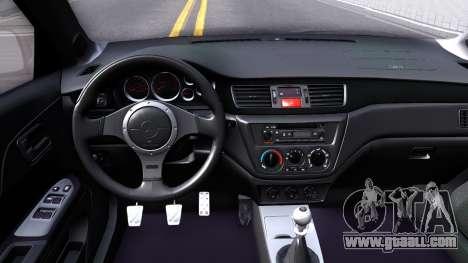 Mitsubishi Lancer Evolution IX 2006 MR for GTA San Andreas inner view