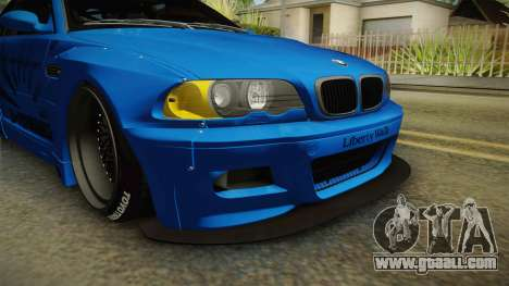 BMW M3 E46 Liberty Walk for GTA San Andreas inner view