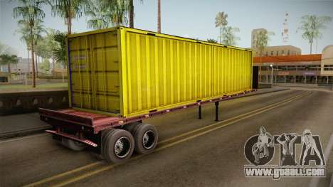 Yellow Trailer Container HD for GTA San Andreas left view