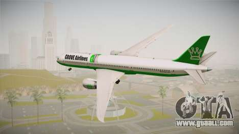 Boeing 787 Grove Airlines for GTA San Andreas left view