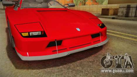 GTA 5 Grotti Turismo Classic IVF for GTA San Andreas bottom view