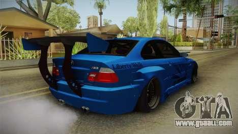 BMW M3 E46 Liberty Walk for GTA San Andreas back left view