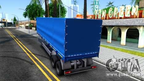 Trailer NefAZ for GTA San Andreas left view