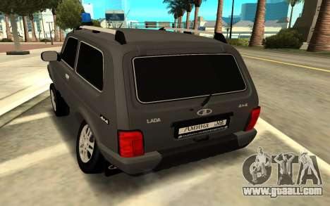 NIVA URBAN for GTA San Andreas back left view