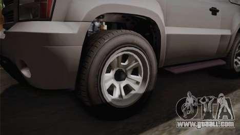 GTA 5 Declasse Granger 2-doors for GTA San Andreas back view