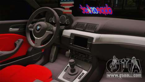 BMW 3 Series E46 Cabrio King for GTA San Andreas inner view