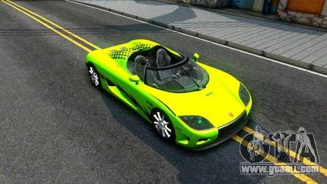 Koenigsegg CCX for GTA San Andreas bottom view