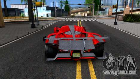 GTA V Grotti Prototipo for GTA San Andreas back left view