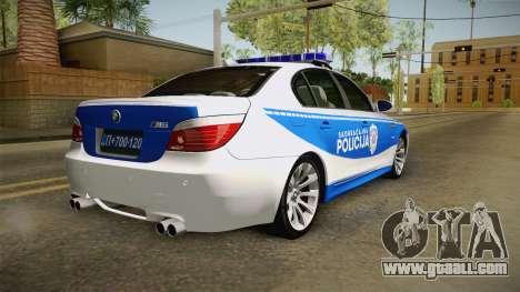 BMW M5 E60 Saobracajna Policija for GTA San Andreas left view