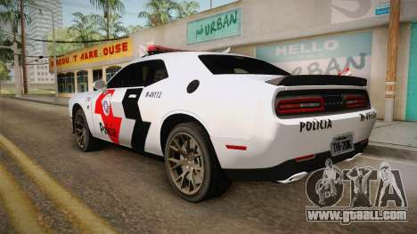 Dodge Challenger Hellcat 2012 PMSP for GTA San Andreas left view