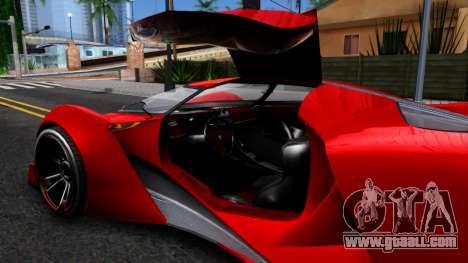 GTA V Grotti Prototipo for GTA San Andreas inner view