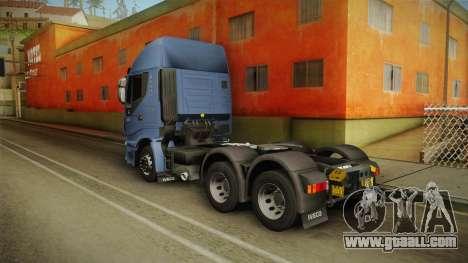 Iveco Stralis Hi-Way 560 E6 6x4 v3.2 for GTA San Andreas back left view