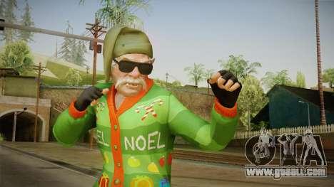 GTA 5 Special Christmas Skin for GTA San Andreas