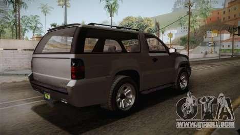 GTA 5 Declasse Granger 2-doors for GTA San Andreas back left view