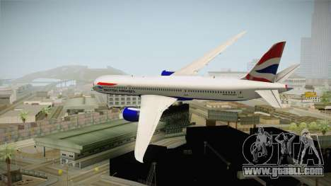 Boeing 787 British Airways for GTA San Andreas right view
