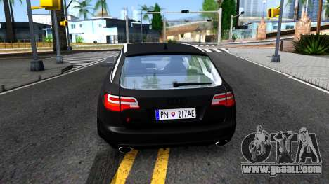 Audi RS6 Avant for GTA San Andreas back left view