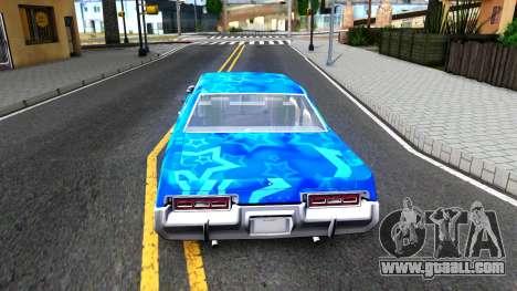 Dodge Monaco 1974 Blue Star for GTA San Andreas back left view
