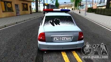 """VAZ 2170 """"Priora"""" Static Police for GTA San Andreas"""