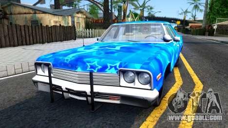 Dodge Monaco 1974 Blue Star for GTA San Andreas