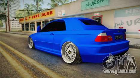 BMW 3 Series E46 Cabrio King for GTA San Andreas left view