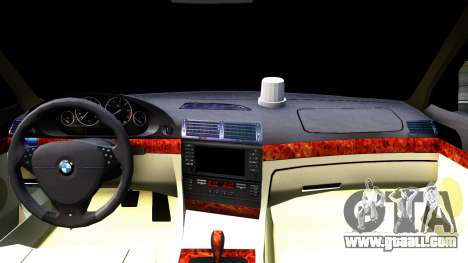 BMW 730i E38 for GTA San Andreas inner view