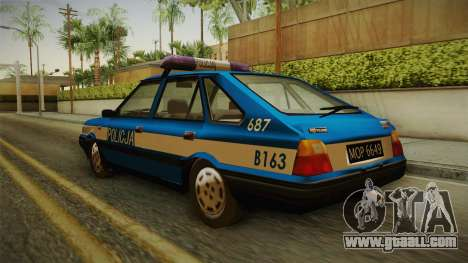 FSO Polonez Caro Policja for GTA San Andreas back left view