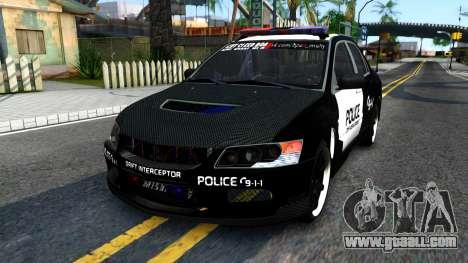 Mitsubishi Lancer Evolution IX Police for GTA San Andreas