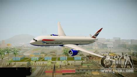 Boeing 787 British Airways for GTA San Andreas back left view