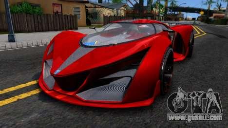 GTA V Grotti Prototipo for GTA San Andreas