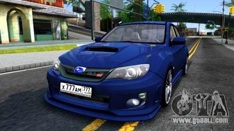 Subaru Impreza WRX STI Sedan 2011 for GTA San Andreas