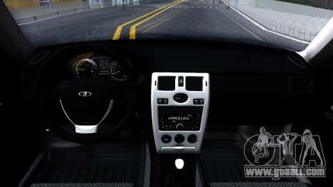 VAZ 2172 for GTA San Andreas inner view