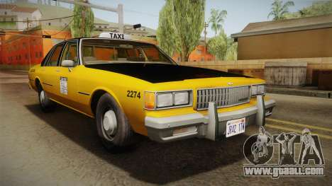 Chevrolet Caprice Taxi 1986 IVF for GTA San Andreas right view