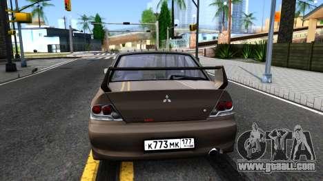 Mitsubishi Lancer Evolution IX 2006 MR for GTA San Andreas back left view