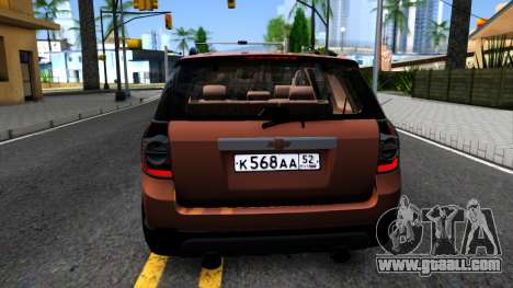 Chevrolet Captiva for GTA San Andreas back left view
