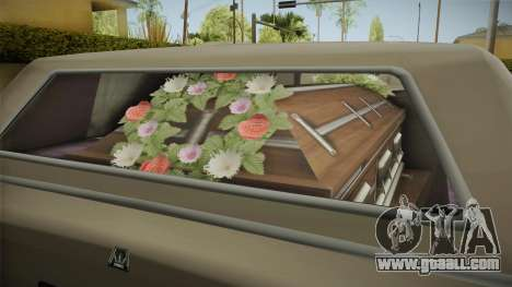 GTA 5 Albany Emperor Hearse for GTA San Andreas inner view